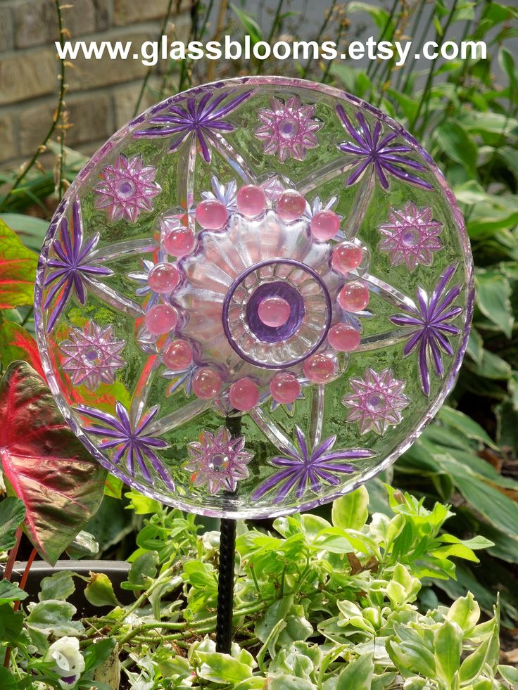 Pin by jennifer pierquet on garden art made with recycled - Recycled glass garden art ...