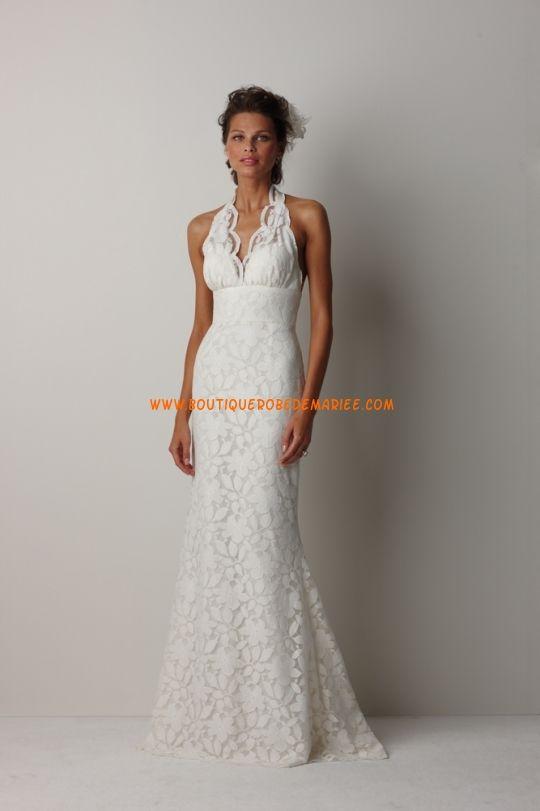 Robe de mariée dentelle col V dos nu  Robe de mariée dentelle ...