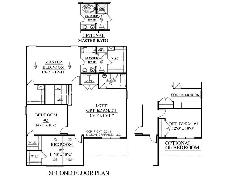 Pin by southern heritage home designs on two story house for 1 1 2 story floor plans