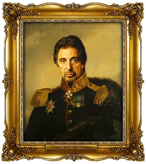 Celebrities portrayed as russian generals