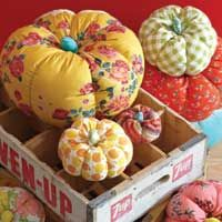 fabric pumpkins - pattern and tutorial