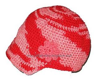 Visor beanie free crochet pattern