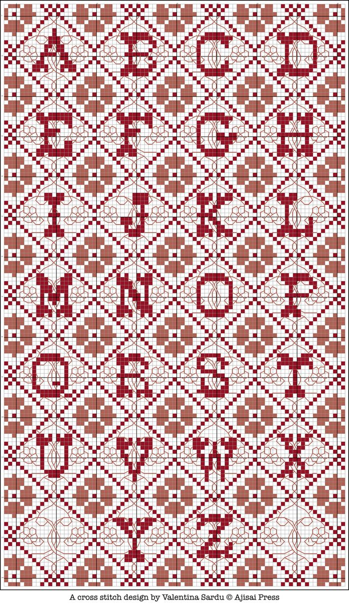 Free cross stitch pattern - Alphabet
