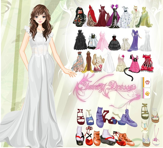 explore wedding dress games