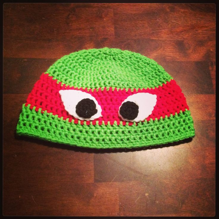 Crochet Hat Ninja Turtle!! My Crochet projects!! Pinterest