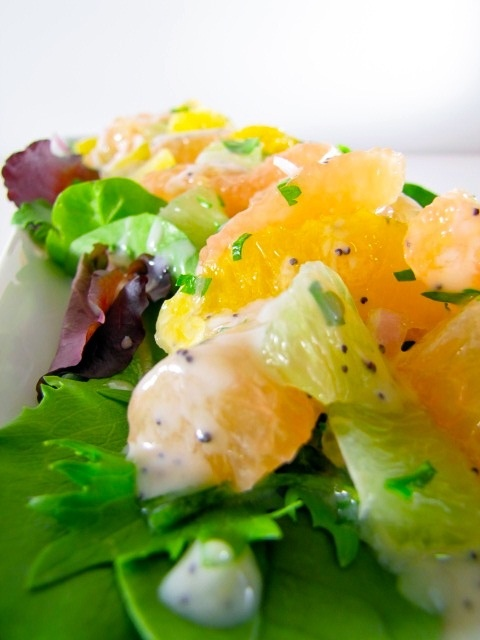 ChowGals: Citrus Salad with Creamy Poppy Seed Dressing