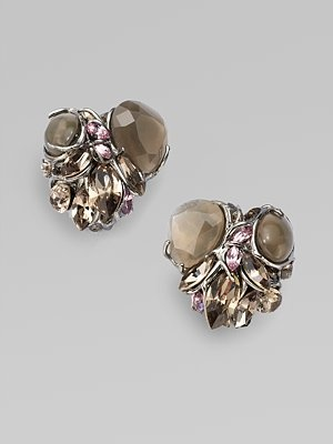 Alexis Bittar jeweled cluster earrings