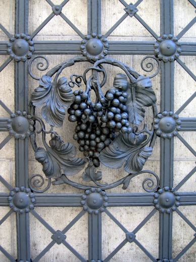 Wrought iron gate decoration. #Belvedere #Quarante #Herault #Languedoc