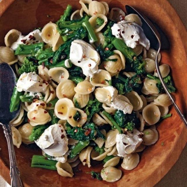 Goat cheese pasta/ salad | Recipes | Pinterest