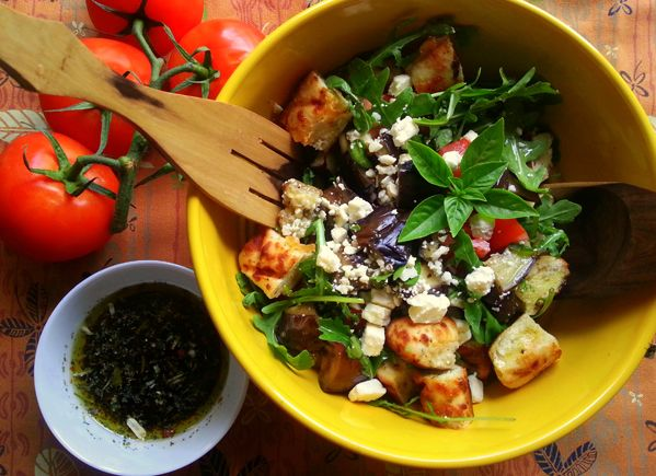 Grilled Eggplant Salad Recipe - Grilling is Happiness- Grilling is ...
