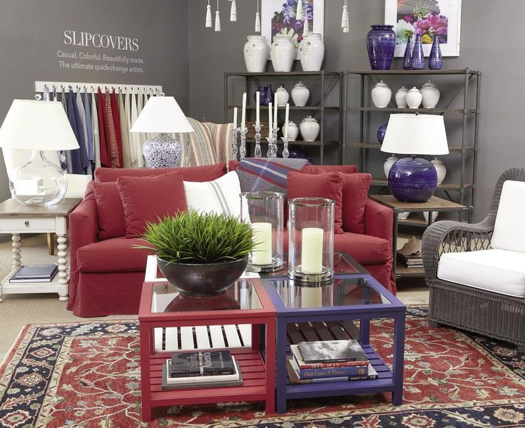 Red interiors red ethan allen living room idea ethan for Ethan allen living room designs