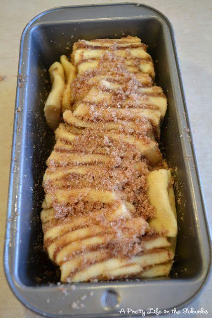 Cinnamon Sugar Pull-Apart Bread   Using a dough recipe for a bread ...