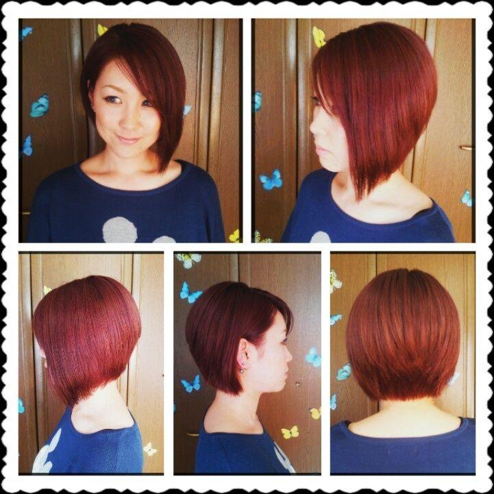 Burgundy Red Hair Bob's