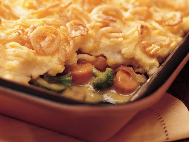 Vegetarian shepherd's pie. I usually use green beans for this recipe ...