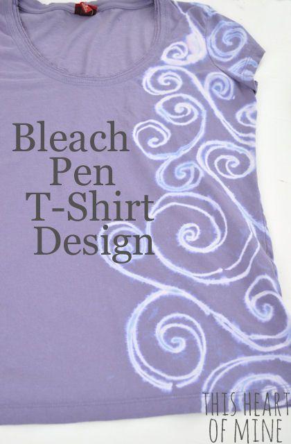Bleach pen t shirt design for How to bleach at shirt