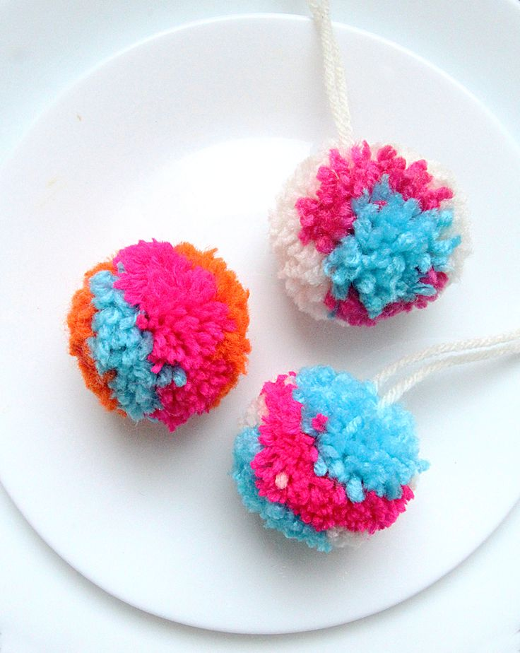 Pom pom multi colored kids craft crafts pinterest for What to make with pom poms crafts