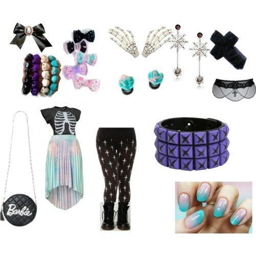 Pastel Goth Outfits Pastel goth outfit. via claire loves corpses