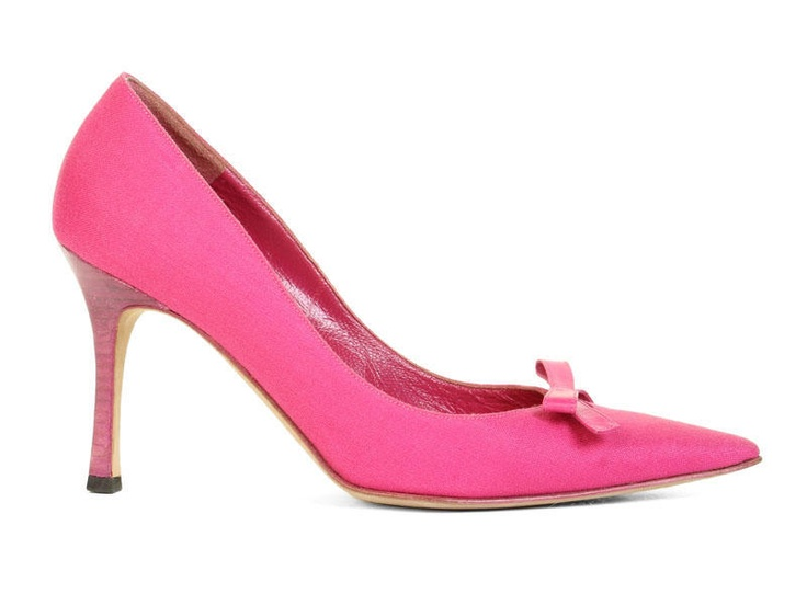 Manolo Blahnik Hot Pink Pumps