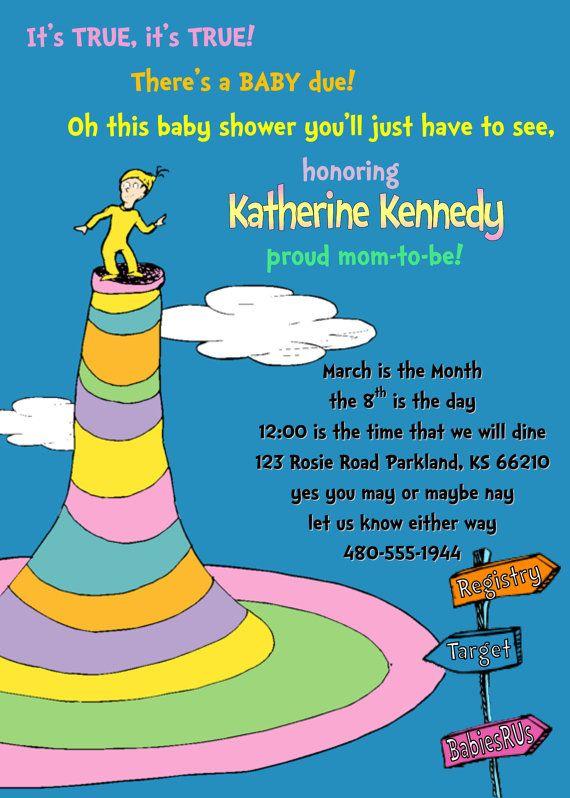 dr seuss baby shower invitation by kraftykansas on etsy