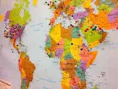 map of the world to put pins in