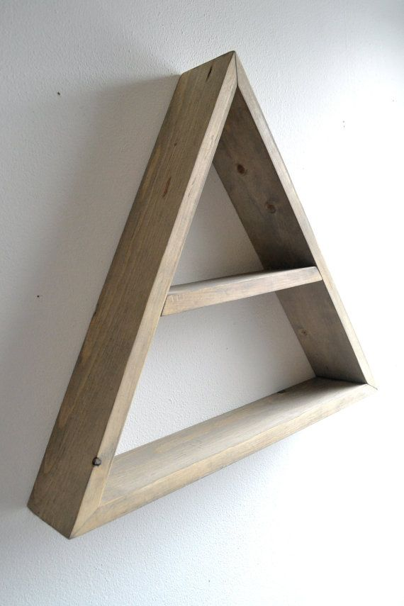 Large triangle shelf for the home pinterest - Triangular bookshelf ...