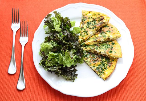 Goat Cheese and Caramelized Onion Frittata
