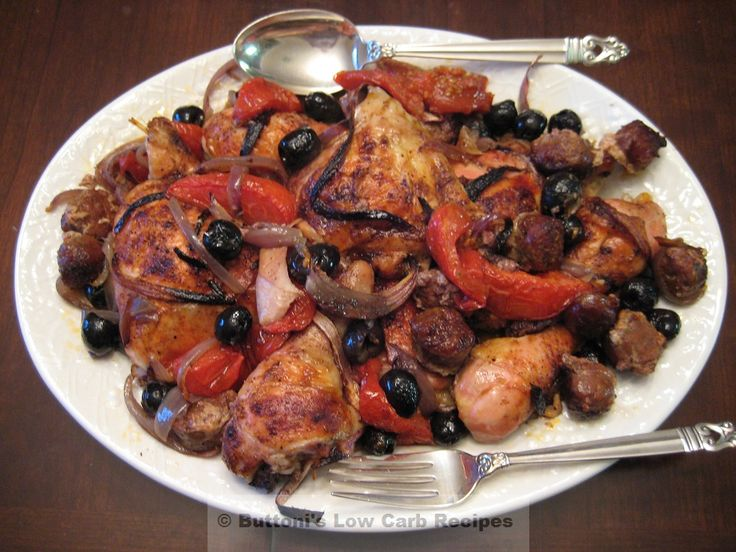 Mediterranean Chicken and Olives | low carb | Pinterest