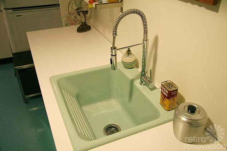Basement Sinks : Retro style laundry sink from Home Depot Basement/Utility Rooms P ...