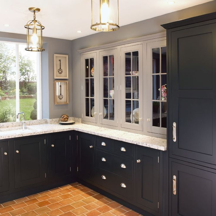 Shaker and classic shaker style kitchens in black