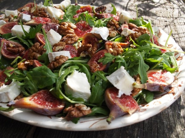 Fig, Goats Cheese And Walnut Couscous Salad Recipe — Dishmaps