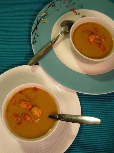 Pureed Butternut Squash, Potato and Poblano Coconut Curry Soup