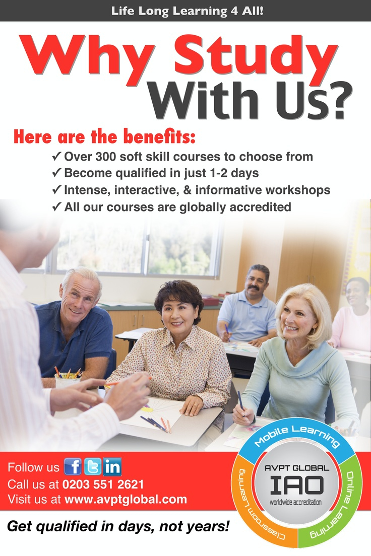 over 50 why you should study with us