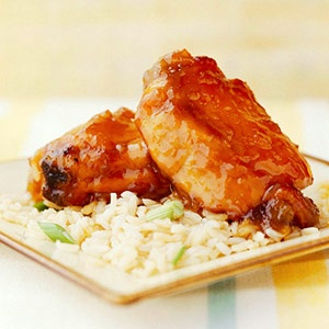 mild sweet-sour chicken recipe made with mango chutney and chili sauce ...