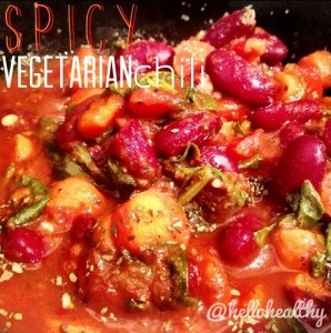 spicy vegetarian chili | Lunches and Dinners | Pinterest