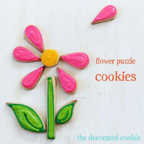 flower cookie puzzle | Cookies | Pinterest