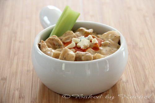 Slow Cooker Buffalo Chicken Chowder - http://www.bakedbyrachel.com ...