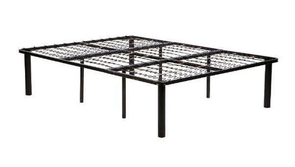 Metal platform bed frame queen sofa beds pinterest