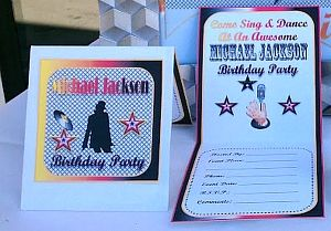 Michael jackson printable party supplies invitations water bottle