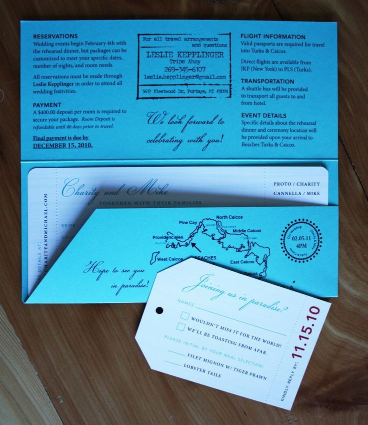 Destination Wedding Invitations Ideas
