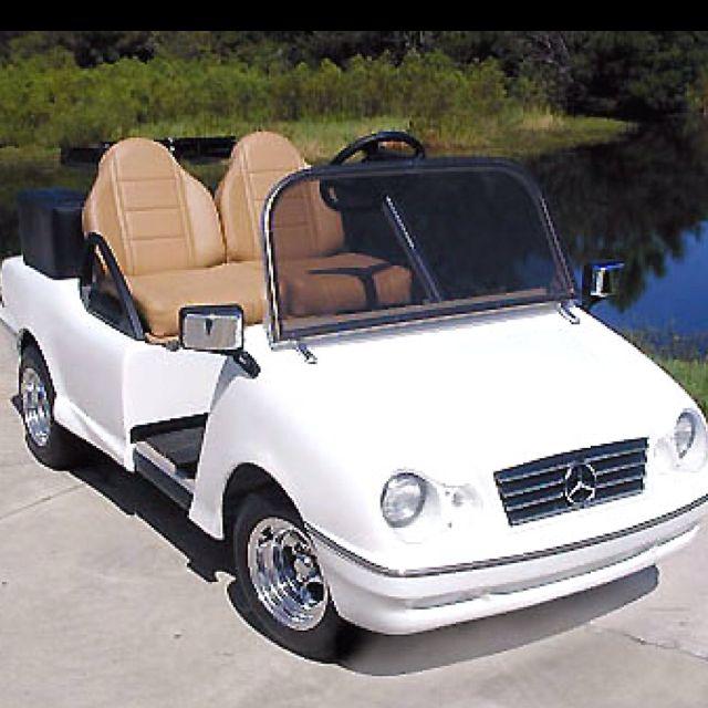 Luxury golf cart golf stuff pinterest for Mercedes benz golf cart