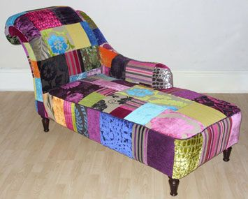 Patchwork chaise longue nest pinterest for Chaise patchwork