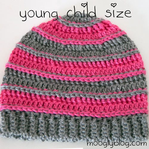 ... ! Perfect hat for girls and boys, free pattern on mooglyblog.com