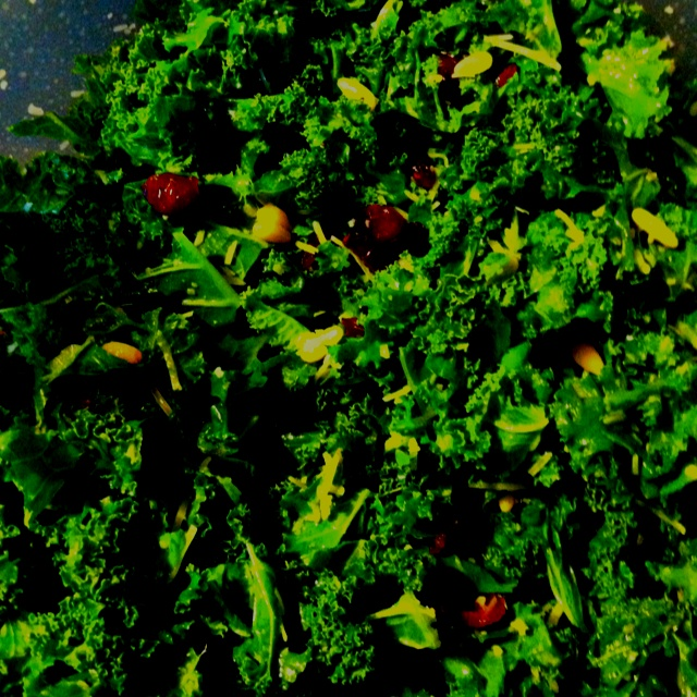 Kale salad Bunch of kale, craisins, fresh parmesan cheese, pine nuts ...