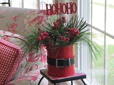 DIY Christmas floral arrangement