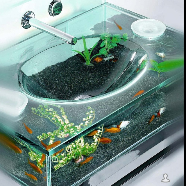 Cool fish tank sink i can dream pinterest for Awesome fish tanks