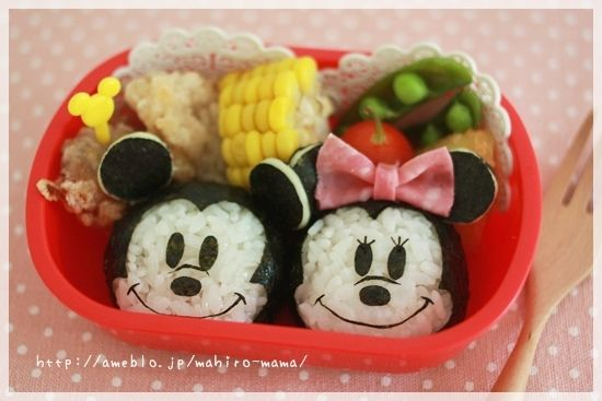 Mickey and Minnie bento | Recipes to try | Pinterest