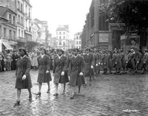 The 6888th Central Postal Directory Battalion was the only all African-American, all-female battalion during World War II. Called the Six Triple Eight, the women moved mountains of mail that clogged warehouses in Birmingham for American service members and civilians in the mid-1940s.