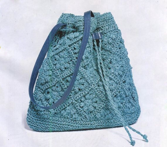 Crochet Bag Pattern Pdf : Crochet Bag, Crochet Sack, granny squares, PATTERN only, PDF pattern ...