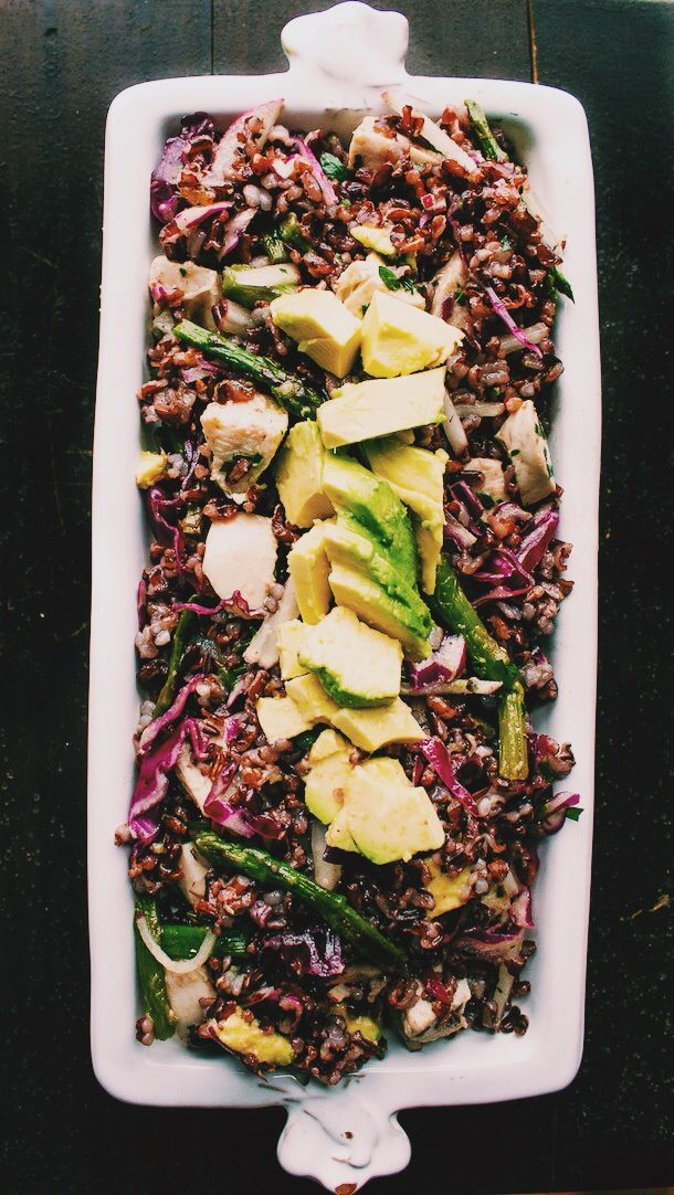 black rice salad with spring vegetables & avocado {naturally gluten ...