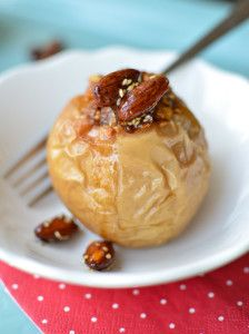 Pumpkin Lava Cake Baked Apples | Recipe